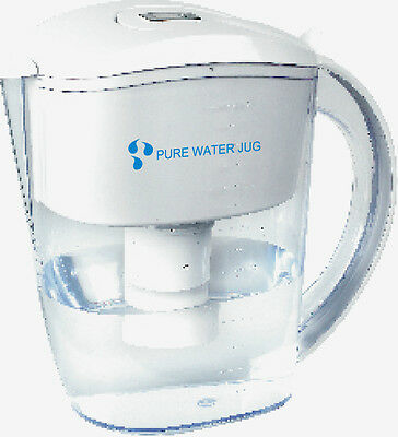 Alkaline Ioniser Water Filter Jug + 4 filters. 7 stage filtration. Maifan Stones