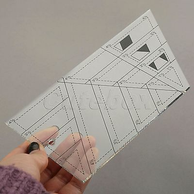 20.7x14.2x11.3cm DIY Tailor Sewing Trapezoid Patchwork Ruler Quilting Triangle