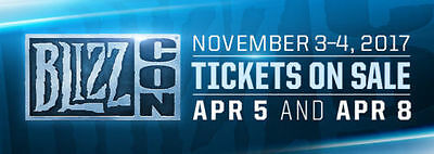(1) One Blizzcon 2017 Ticket complete with Goodie Bag + Digital Items