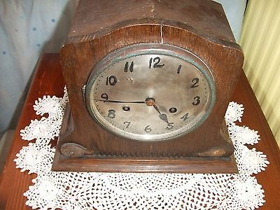 Antique Junghans Chiming Mantle Clock Spares or Repair