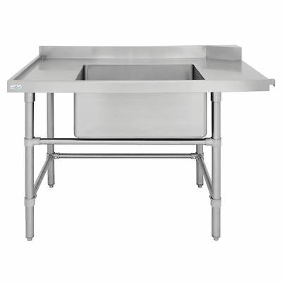 Vogue LH Dishwasher Inlet Table with Sink 1200x700x960mm Stainless Steel Kitchen