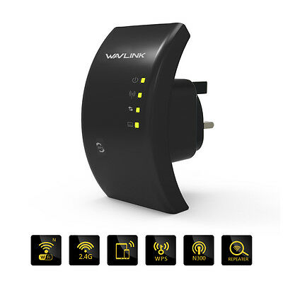Wireless N 300Mbps Wifi Repeater Router 802.11n Network Extender Booster UK Plug