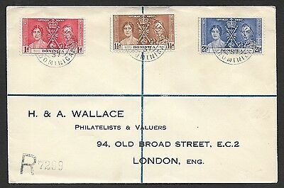 (111cents) Dominica 1937 Cover to England