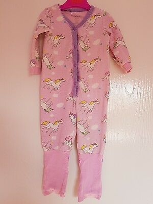 My Chicco Baby Girl Unicorn Romper Babygrow Size 12 Months DESIGNER