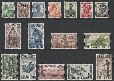 Papua New Guinea 1952 Full set of 16  to £1   Fresh unhinged mint