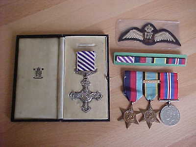 Original Ww2 R.a.f. Cased  1941  D.f.c.  &  Aircrew  Europe  Medal Group