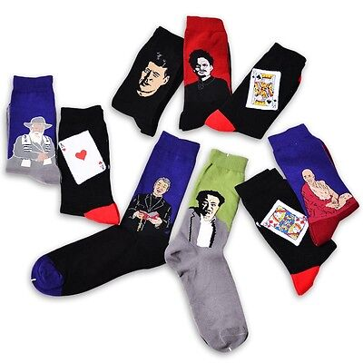 Fashion Mens Women Vintage Retro Casual Painting Art Funny Novelty Socks 1 Pair