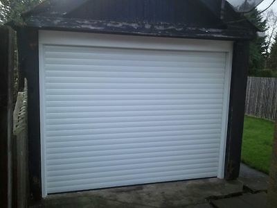 Aluminium Garage Roller Door, Electric Remote Control, Made To Measure, Fitted.