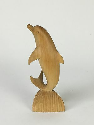 Dolphins Love Symbol Wood Carving  Balinese Sculpture Vintage Handmade 11cm