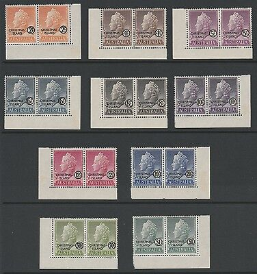 Christmas Is 1958 Complete set of 10 definitives in pairs fresh Unhinged mint