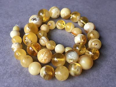 Collier Ambre 100% Naturel 44,1 g. White Amber Baltic Necklace