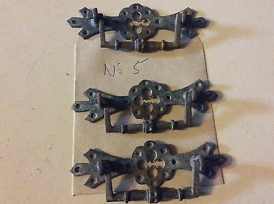 Victorian / EdwardIan  cast  Brass CHEST OF DRAWERS Handles. X 3