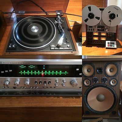 Vintage Jvc Stereo And TEAC reel to reel