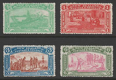 New Zealand 1906 Christchurch Exhibition set of 4 fresh unhinged mint