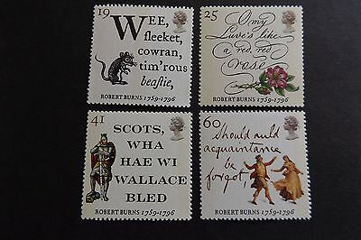GB MNH STAMP SET 1996 Robert Burns SG 1901-1904 UMM