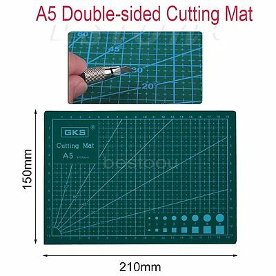 A5 PVC Self Healing Cutting Mat Craft Quilting Grid Lines Printed Board AG