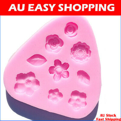 60341 Flowers leaf Silicone sugar cake decorating cutters molds soap chocolate A