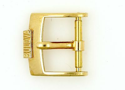 Bulova Vintage Wristwatch Buckle 14Mm Gold Plated Spares Repairs L93