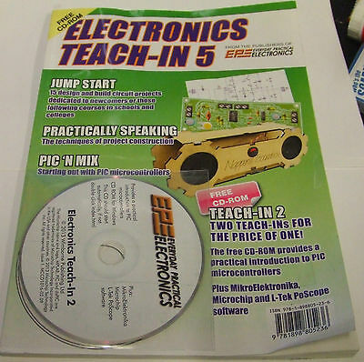 EPE Everyday Practical Electronics Electronics Teach-In 5 Volume 5, Free Disc .,