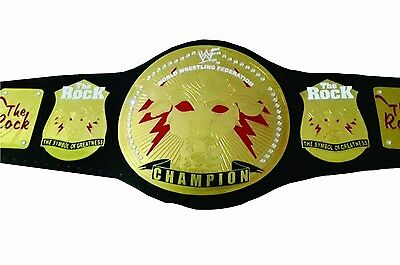 WWE WWF the Rock championship belt replica belt adult  size