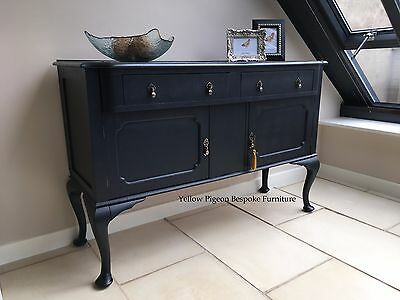 Antique Edwardian Hand Painted Oak English Sideboard Buffet 100 miles free del
