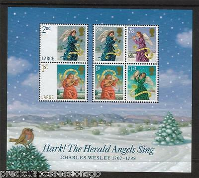 GB MNH STAMP MINIATURE SHEET 2007 Christmas Angels SG MS2795 UMM