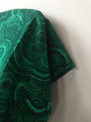 FREE SHIPPING! Tony Duquette Gemstone MALACHITE Fabric Jim Thompson