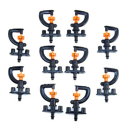 10Pcs Yard Garden Lawn Irrigation 360° Rotation Water watering Sprinkler-Head