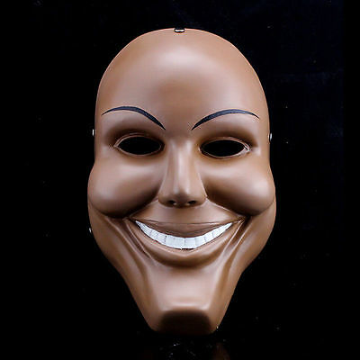 Men Resin Scary Smile Face Halloween Mask The Purge Anarchy Movie Costume Dress