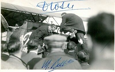 Dedicace Autographe Coste & Bellonte Pionnier Aviation Signed Aviator