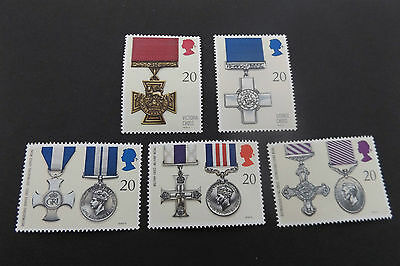 GB MNH STAMP SET 1990 Gallantry Awards SG 1517-1521 UMM