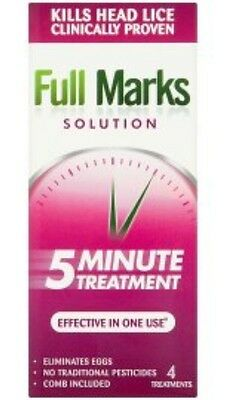 Kills Head Lice Full Marks Solution 5 Minute Treatment Effective In 1 Use