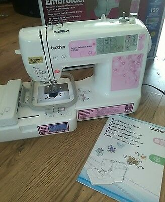 brother pe500 embroidery machine like inovis needs some attention