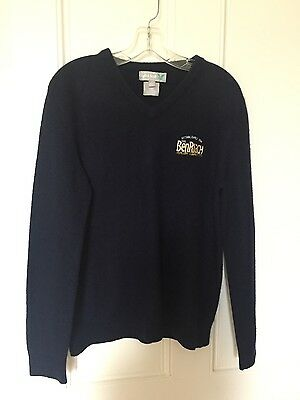 Lyle And Scott New Mens V Neck Jumper Navy 100% Lambswool Large