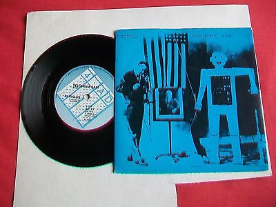 "Bauhaus - Telegram Sam / Crowds - Uk 7"" Single - 1980 Original  4 Ad"