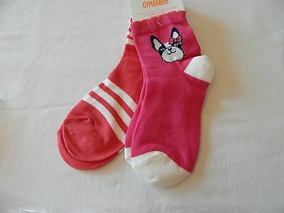 Nwt Gymboree *ciao Puppy* 2 Pairs Of Socks- Striped & Puppy Size S(5-6)