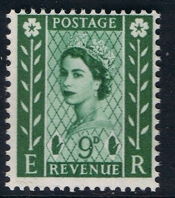 GB QEII Northern Ireland SG NI4 9d Bronze-Green 2B. Regional Wilding Definitive.