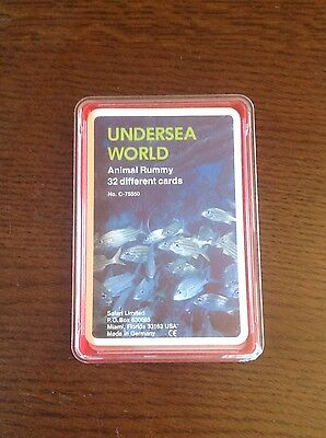 Very Rare Undersea World Rummy Card Game