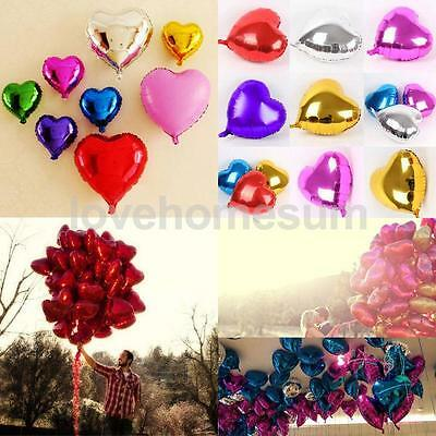 16pcs Love Heart Foil Helium Balloons Wedding Party Birthday Decor in 8color