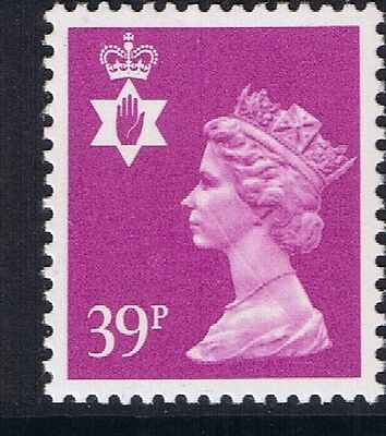 GB QEII Northern Ireland SG NI68 39p Bright Mauve PP Regional Machin Stamp MNH