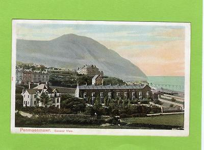 Penmaenmawr general view unused old pc Peacock Ref B769