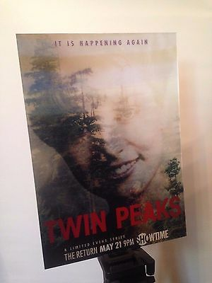 8,2x11,7 Twin Peaks Poster Aminated Lenticular Flip 3D Poster Cooper David Lynch