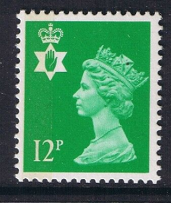 GB QEII Northern Ireland. SG NI35 12p Bright Emerald 1B. Regional Stamp MNH