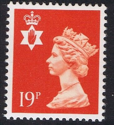 GB QEII Northern Ireland. SG NI49 19p Bright Orange-Red PP. Regional Stamp MNH