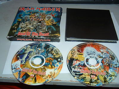 IRON MAIDEN - BEST OF THE BEAST  BOX SET 2 x CD ALBUM HARDBACK CASE