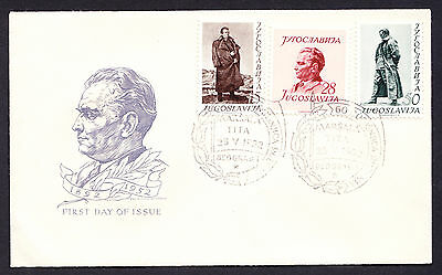 Yugoslavia FDC 1er First Day Cover 60th Birthday of Marshal Tito Premier Jour