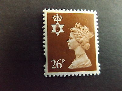 GB QEII Northern Ireland. SG NI73 26p Red-Brown 2B. Regional Stamp MNH