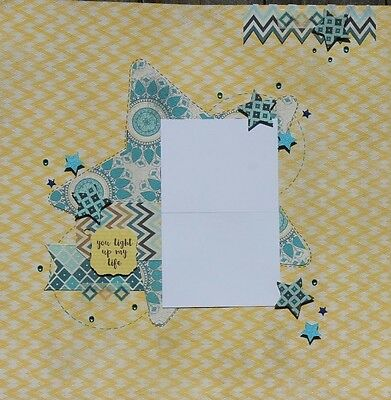 12 x 12 Handmade Premade Scrapbook Page Layout