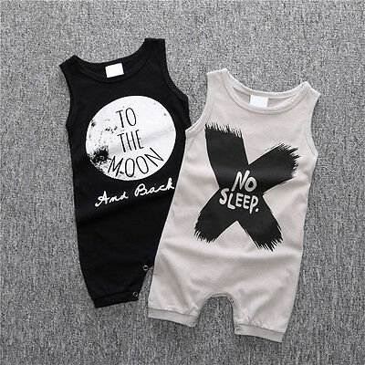 0-24M Summer Newborn Kids Baby Boy Girl Infant Romper Bodysuit Clothes Outfit