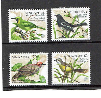 Singapore 1998 Set of 4, Songbirds. SG919-922. UnMounted Mint.